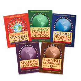 My Chat Company's full chatbook collection - Spanish Lessons for adults, children, teachers, and business professionals